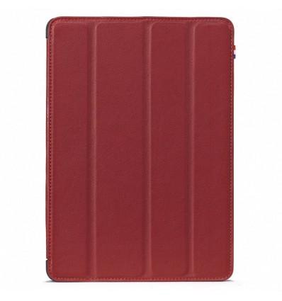 Housse tablette Apple iPad Mini 4 - Véritable cuir Rouge