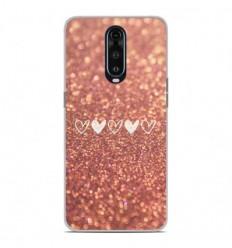 Coque en silicone Oppo RX17 Pro - Paillettes coeur