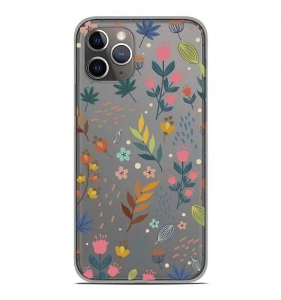 Coque en silicone Apple iPhone 11 Pro - Fleurs colorées