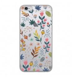 Coque en silicone Apple iPhone 6 / 6S - Fleurs colorées