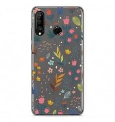 Coque en silicone Huawei P30 Lite - Fleurs colorées