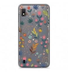 Coque en silicone Samsung Galaxy A10 - Fleurs colorées