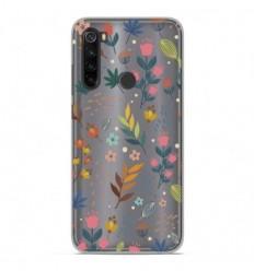 Coque en silicone Xiaomi Redmi Note 8T - Fleurs colorées