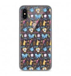 Coque en silicone Apple iPhone X / XS - Happy animals