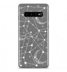 Coque en silicone Samsung Galaxy S10 - Lignes étoilées