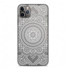 Coque en silicone Apple iPhone 11 Pro Max - Mandala blanc