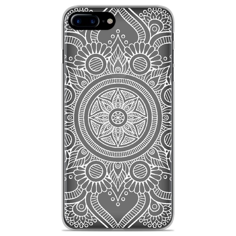 Coque en silicone Apple iPhone 8 Plus - Mandala blanc