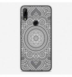 Coque en silicone Huawei P Smart Z - Mandala blanc