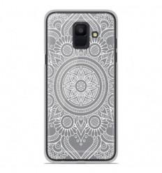 Coque en silicone Samsung Galaxy A6 2018 - Mandala blanc