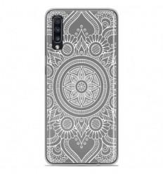 Coque en silicone Samsung Galaxy A70 - Mandala blanc