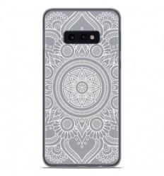 Coque en silicone Samsung Galaxy S10e - Mandala blanc