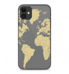 Coque en silicone Apple iPhone 11 - Map beige