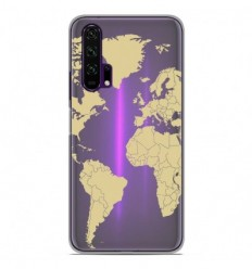 Coque en silicone Huawei Honor 20 Pro - Map beige