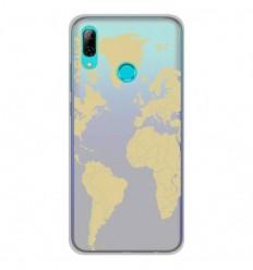 Coque en silicone Huawei P Smart 2019 - Map beige