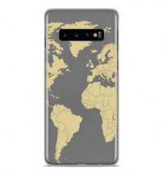 Coque en silicone Samsung Galaxy S10 - Map beige