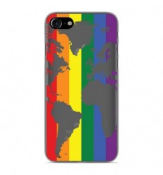 Coque en silicone Apple iPhone 7 - Map LGBT