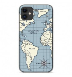 Coque en silicone Apple iPhone 11 - Map vintage