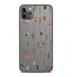 Coque en silicone Apple iPhone 11 Pro Max - Montée de fleurs
