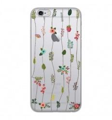 Coque en silicone Apple iPhone 6 / 6S - Montée de fleurs