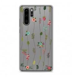 Coque en silicone Huawei P30 Pro - Montée de fleurs