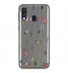 Coque en silicone Samsung Galaxy A50 - Montée de fleurs