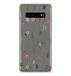 Coque en silicone Samsung Galaxy S10 - Montée de fleurs