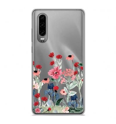 Coque en silicone Huawei P30 - Printemps en fleurs