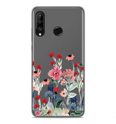 Coque en silicone Huawei P30 Lite - Printemps en fleurs