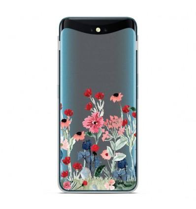Coque en silicone Oppo Find X - Printemps en fleurs