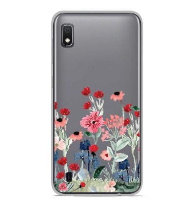 Coque en silicone Samsung Galaxy A10 - Printemps en fleurs
