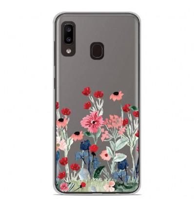 Coque en silicone Samsung Galaxy A40 - Printemps en fleurs