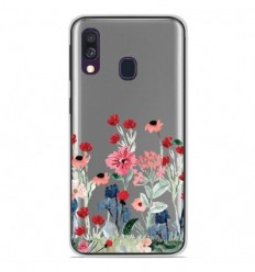 Coque en silicone Samsung Galaxy A50 - Printemps en fleurs