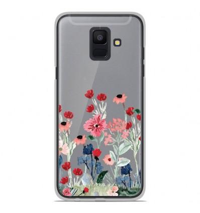 Coque en silicone Samsung Galaxy A6 2018 - Printemps en fleurs