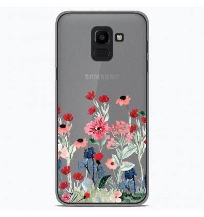 Coque en silicone Samsung Galaxy J6 2018 - Printemps en fleurs