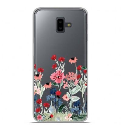 Coque en silicone Samsung Galaxy J6 Plus 2018 - Printemps en fleurs