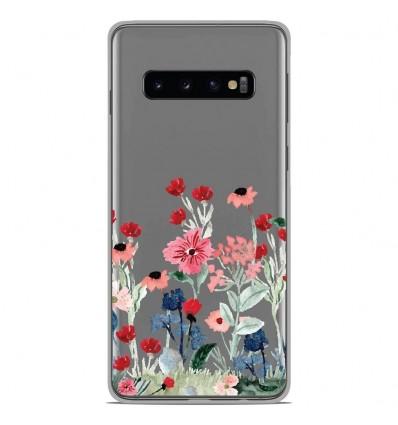 Coque en silicone Samsung Galaxy S10 - Printemps en fleurs