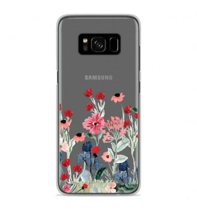 Coque en silicone Samsung Galaxy S8 - Printemps en fleurs