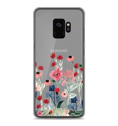 Coque en silicone Samsung Galaxy S9 - Printemps en fleurs