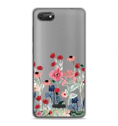 Coque en silicone Wiko Harry 2 - Printemps en fleurs