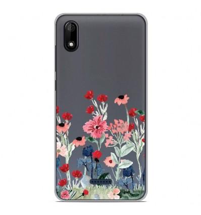 Coque en silicone Wiko Y50 - Printemps en fleurs