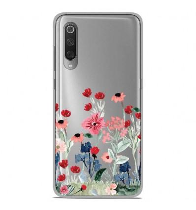 Coque en silicone Xiaomi Mi 9 / Mi 9 Pro - Printemps en fleurs