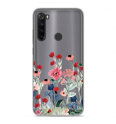 Coque en silicone Xiaomi Redmi Note 8 - Printemps en fleurs