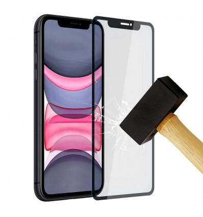 Film verre trempé 4D - Apple iPhone 11 Noir protection écran