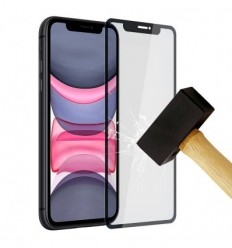 Film verre trempé 4D - Apple iPhone 11 Pro Noir protection écran