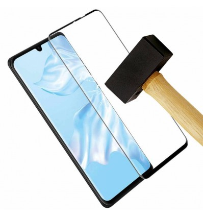 Film verre trempé 4D - Huawei P30 lite Noir protection écran