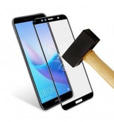 Film verre trempé 4D - Huawei Y6 2017 Noir protection écran