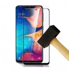 Film verre trempé 4D - Samsung Galaxy A20/A30/A50 Noir protection écran