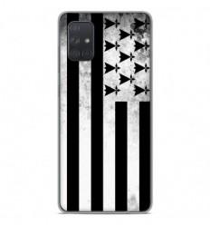 Coque en silicone Samsung Galaxy A51 - Drapeau Bretagne