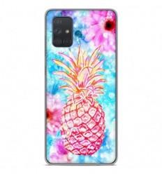 Coque en silicone Samsung Galaxy A51 - Ananas