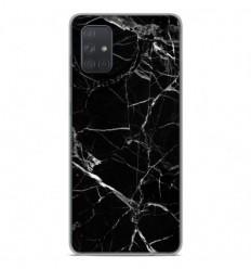 Coque en silicone Samsung Galaxy A51 - Marbre Noir
